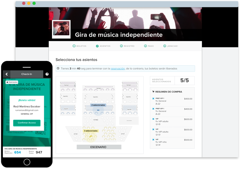venta boletos eventos entretenimiento boletia check-in app